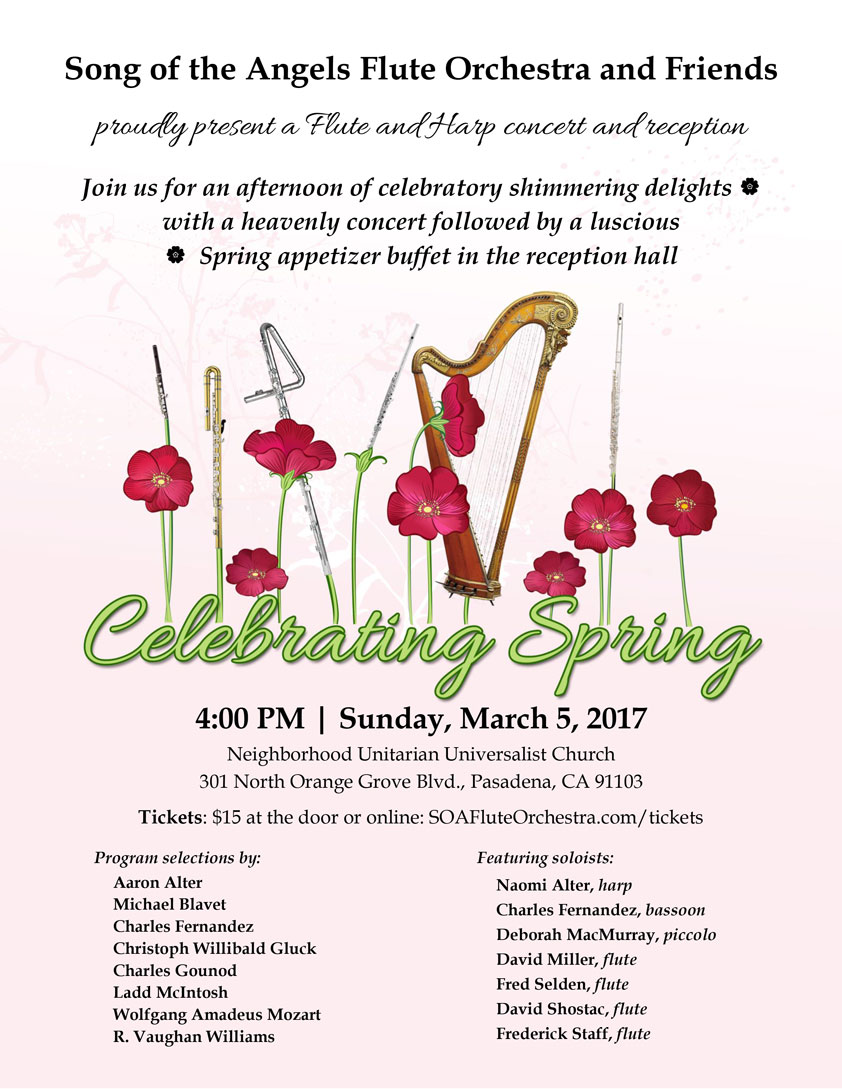 Celebrating spring 2017 song of the angels flute orchestra celebrating spring 2017 mightylinksfo